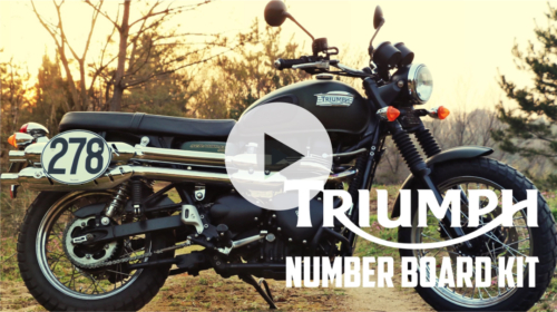ゼッケンプレート【TRIUMPH SCRAMBLER】-MOTORCYCLE MOVIE-